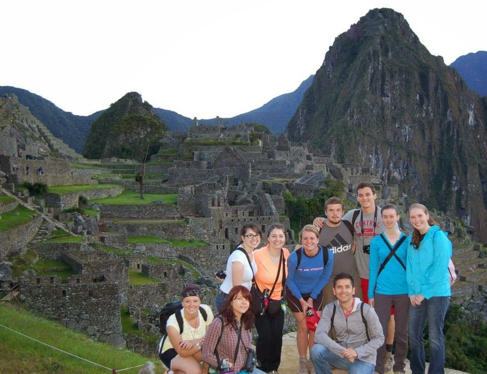 group of students in Peru